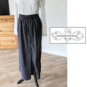 Anthropologie Cloth & Stone Buttonfront Long Skirt